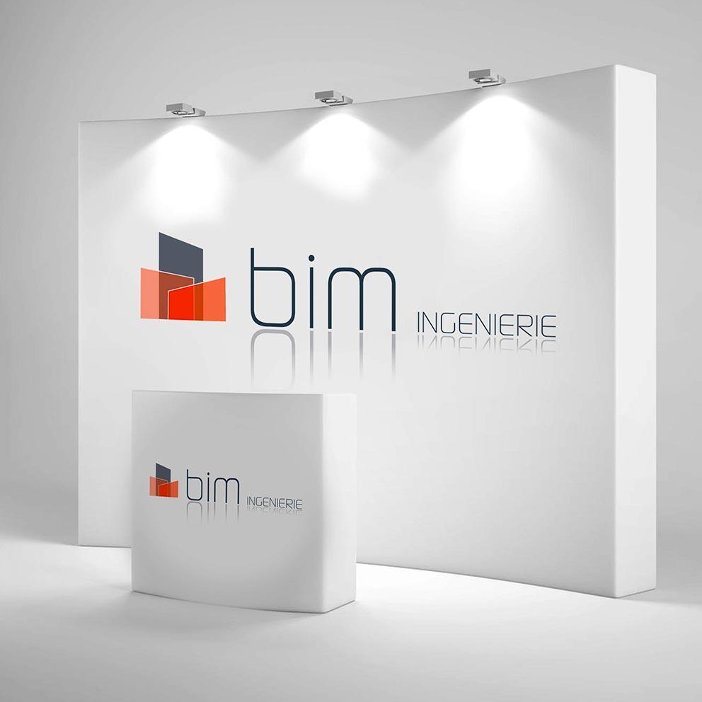 Création du logo Bim ingénierie - Création du logo Seiza - Graphistes freelance Hérault Montpellier Bézier Pézenas