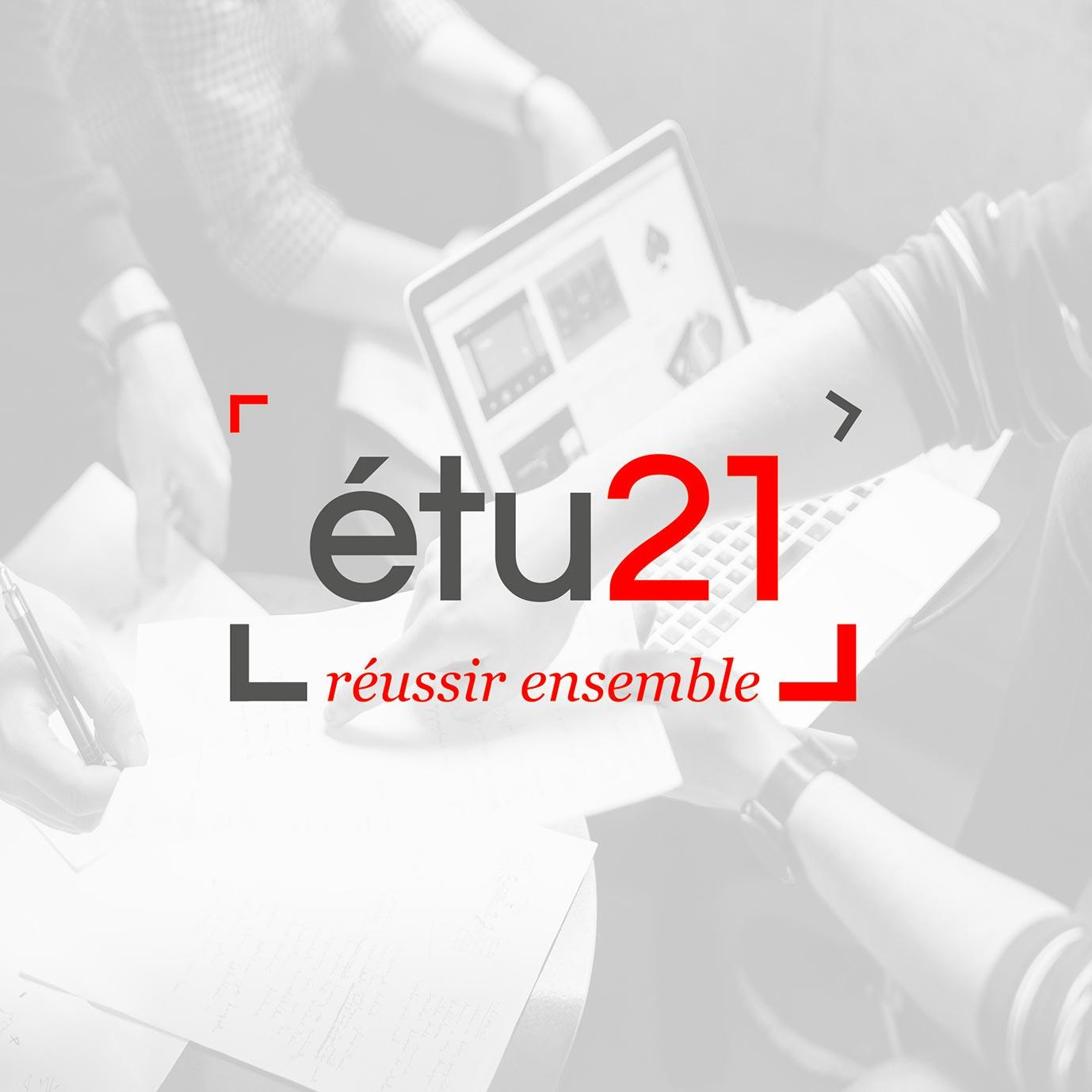 Création de logos et identités visuelles - étu21 - Graphistes freelance Hérault Montpellier Bézier Pézenas