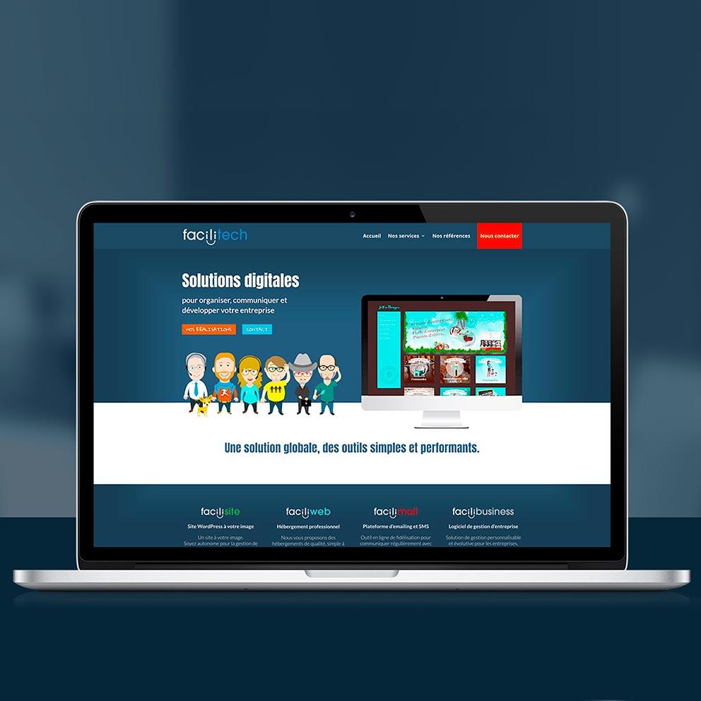 Création webdesign Facilitech - Graphistes freelance Hérault Montpellier Bézier Pézenas