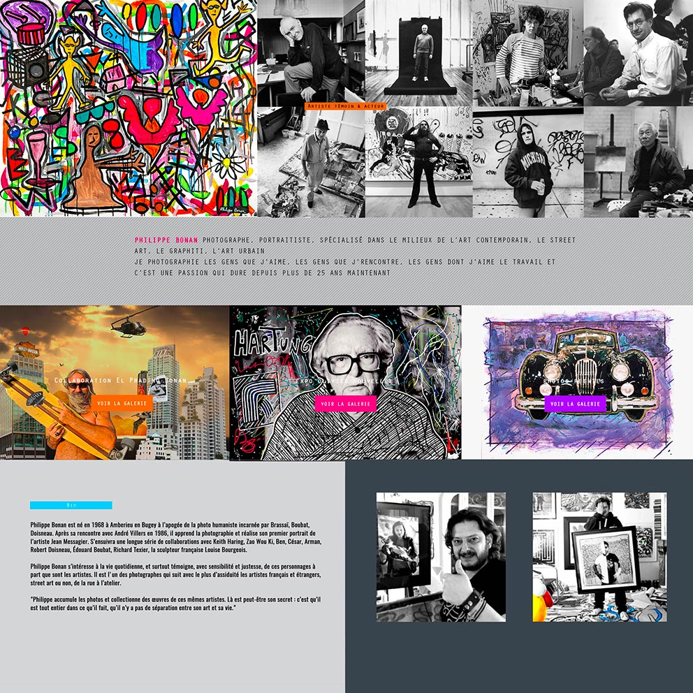 Webdesign du site internet PHB