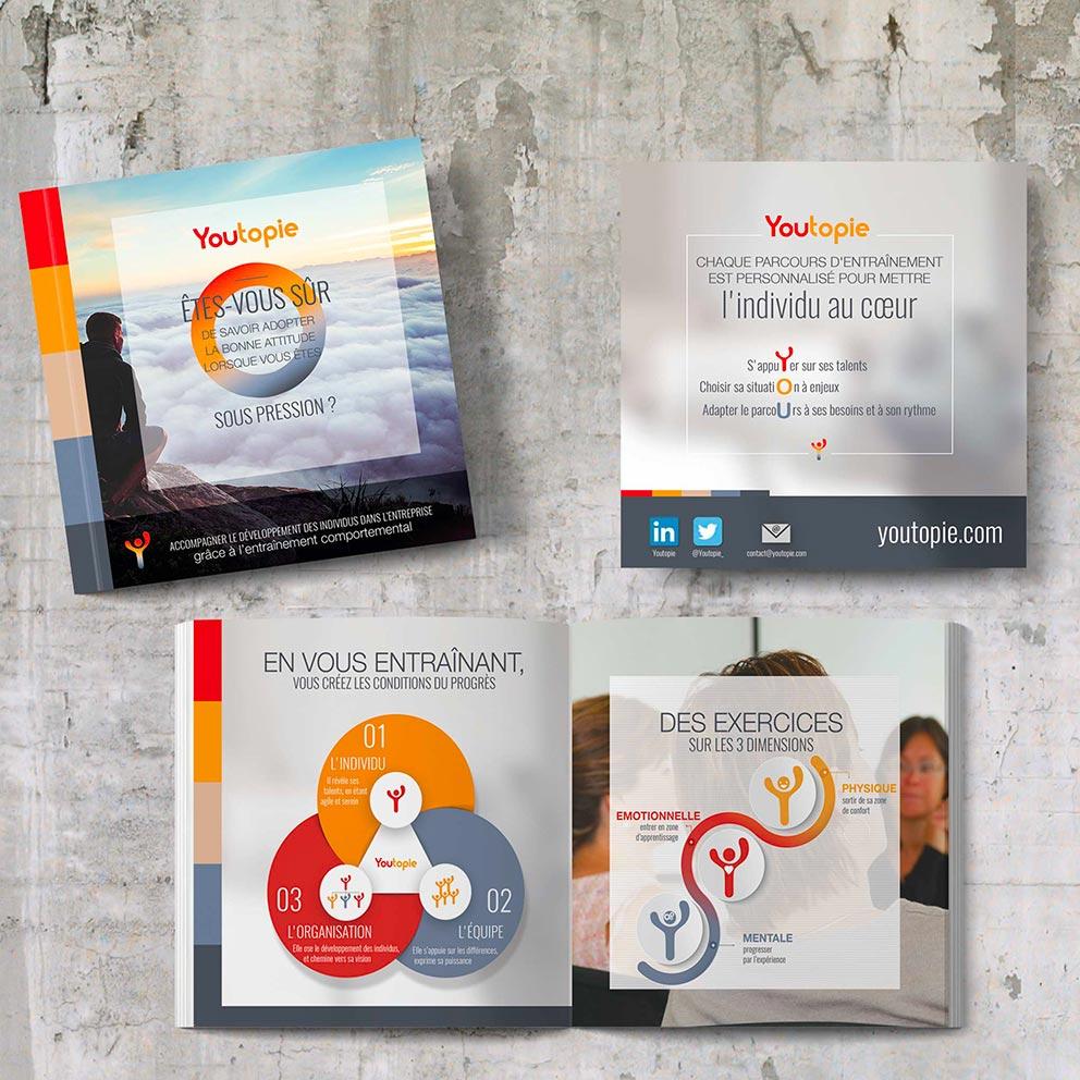 Création Brochure plaquette Création de logos et identités visuelles - Graphistes freelance Hérault Montpellier Bézier Pézenas